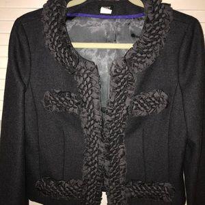 J Crew charcoal wool jacket 10